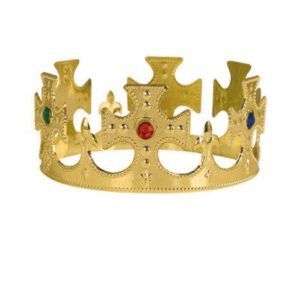 Plastic Jeweled King's Crowns