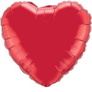 """18"""" Heart Ruby Red Foil Balloons"""