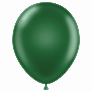 """11"""" Metaltone Forest Green Latex Balloons"""